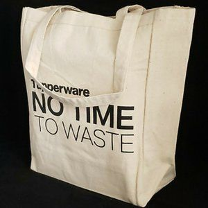 """Tupperware Canvas Bag """"No Time to Waste"""""""